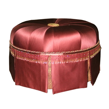 "Picture of V08 30""Rd Ottoman Skirted"